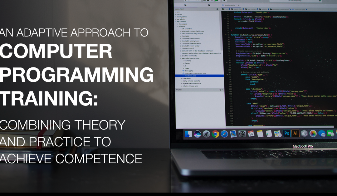 An Adaptive Approach to Computer Programming Training: Combining Theory and Practice to Achieve Competence